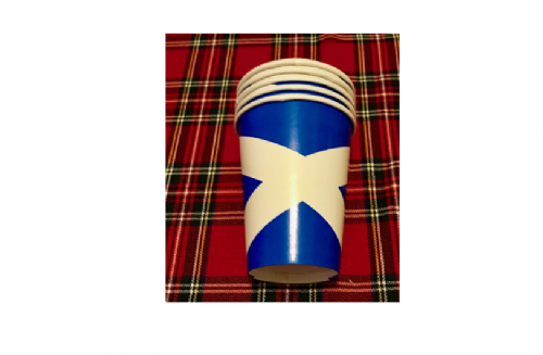 Paper cups - Disposable St Andrews (pack of 12)